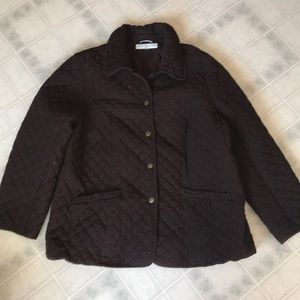 Tommy Hilfiger Quilted Brown Corduroy Coat